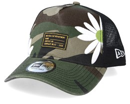 Military Flower Green Camo Trucker - New Era