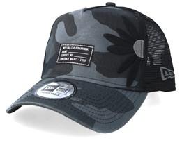 Military Flower Black Camo Trucker - New Era