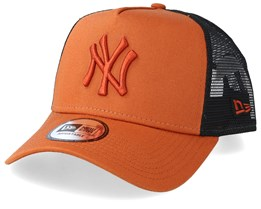 bde7e2c55 New York Yankees League Essential A-Frame Rust/Black Trucker - New Era