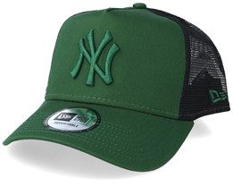 New York Yankees League Essential A-Frame Green/Black Trucker - New Era