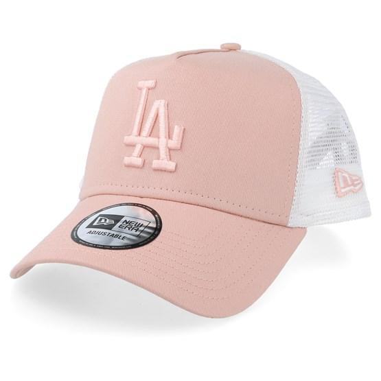 Keps Los Angeles Dodgers League Essential A-Frame Light Pink/White Trucker - New Era - Rosa Trucker