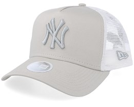 New York Yankees Women's League Essential Beige/White Trucker - New Era
