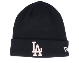 Los Angeles Dodgers League Essential Black/Pink Cuff - New Era