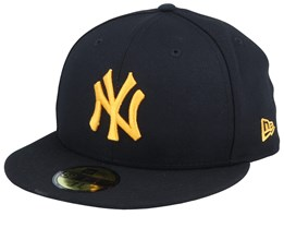 New York Yankees League Essential 59FIfty Black/Gold Fitted - New Era