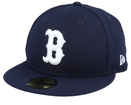 Boston Red Sox League Essential 59Fifty Navy/Stone Fitted - New Era