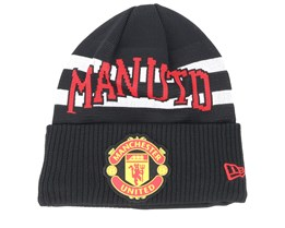 Manchester United Fall 19 Team Knit Black/White/Red Cuff - New Era