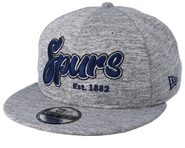 Tottenham Hotspur Fall 19 All Over Marl Heather Grey/Navy Snapback - New Era