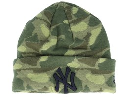 New York Yankees Engineered Plus Knit Camo/Black Cuff - New Era