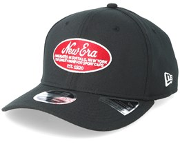 9FIfty Stretch Oval Logo Black/Red Adjustable - New Era