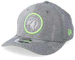 Minnesota Timberwolves Training Series 9Fifty Stretch-Snap Dark Grey/Green Snapback - New Era
