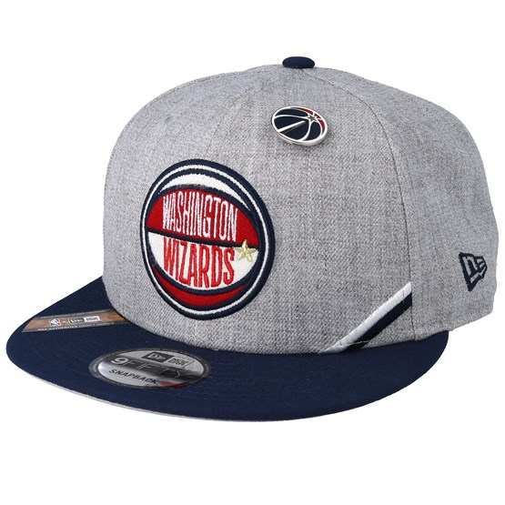 Keps Washington Wizards NBA 19 Draft 9Fifty Heather Grey/Navy Snapback - New Era - Grå Snapback