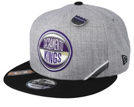 Sacramento Kings 19 NBA 9Fifty Draft Heather Grey/Black Snapback  - New Era