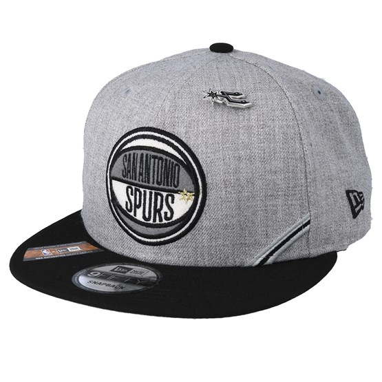 Keps San Antonio Spurs 19 NBA 9Fifty Draft Heather Grey/Black Snapback - New Era - Grå Snapback