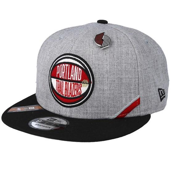 Keps Portland Trail Blazers 19 NBA 9Fifty Draft Heather Grey/Black Snapback - New Era - Grå Snapback
