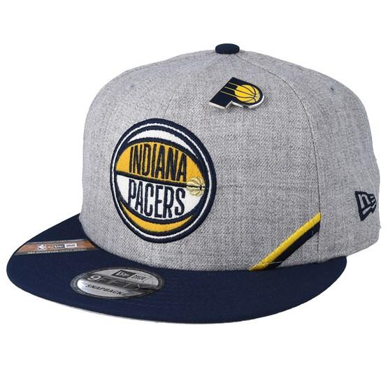 Keps Indiana Pacers 19 NBA 9Fifty Draft Heather Grey/Black Snapback - New Era - Grå Snapback