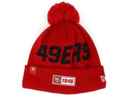 San Francisco 49ers On Field 19 Sport Knit Red/Black Pom - New Era