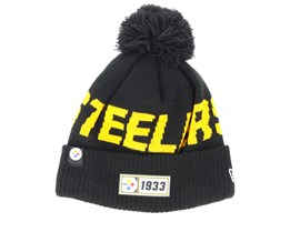 Pittsburgh Steelers On Field 19 Sport Knit Black/Yellow Pom - New Era