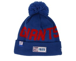 New York Giants On Field 19 Sport Knit Blue/Red Pom - New Era