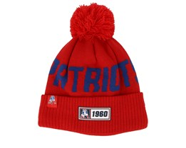 New England Patriots On Field 19 Sport Knit Red/Blue Pom - New Era