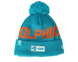 Miami Dolphins On Field 19 Sport Knit Teal/Orange Pom - New Era