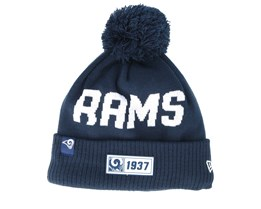 Los Angeles Rams On Field 19 Sport Knit Navy/White Pom - New Era