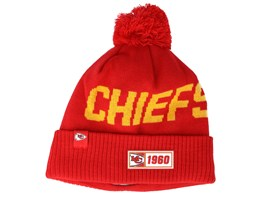 Kansas City Chiefs On Field 19 Sport Knit Red/Yellow Pom - New Era