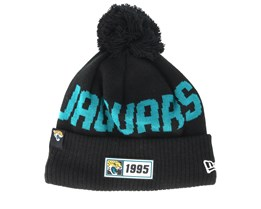 Jacksonville Jaguars On Field 19 Sport Knit Black/Teal Pom - New Era