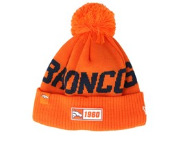 Denver Broncos On Field 19 Sport Knit Orange/Black Pom - New Era