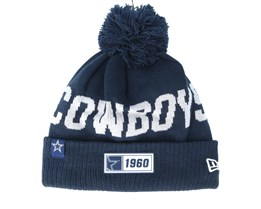 Dallas Cowboys On Field 19 Sport Knit Navy/Grey Pom - New Era