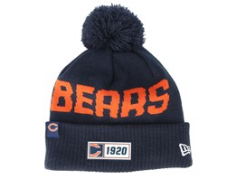 Chicago Bears On Field 19 Sport Knit Navy/Orange Pom - New Era