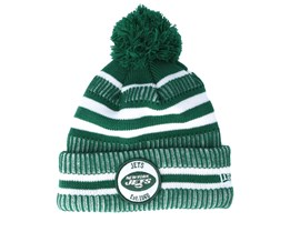 New York Jets On Field 19 Sport Knit 2 Green/White Pom - New Era