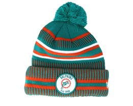 Miami Dolphins On Field 19 Sport Knit 3 Teal/Orange Pom - New Era
