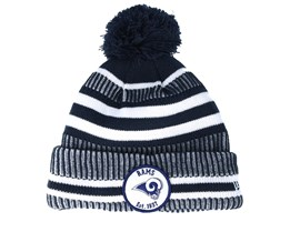 Los Angeles Rams On Field 19 Sport Knit 2 Navy/White Pom - New Era