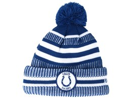 Indianapolis Colts On Field 19 Sport Knit 2 Blue/White Pom - New Era