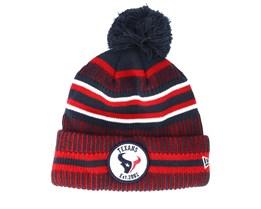 Houston Texans On Field 19 Sport Knit 2 Navy/Red Pom - New Era