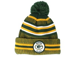 Green Bay Packers On Field 19 Sport Knit 2 Green/Yellow Pom - New Era