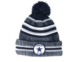 Dallas Cowboys On Field 19 Sport Knit 2 Navy/Grey Pom - New Era