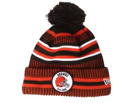Cleveland Browns On Field 19 Sport Knit 2 Brown/Orange Pom - New Era