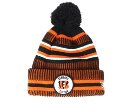 Cincinnati Bengals On Field 19 Sport Knit 2 Black/Orange Pom - New Era