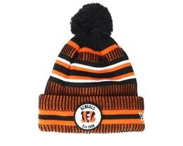 Cincinnati Bengals On Field 19 Sport Knit 2 Black/Orange Pom - New Era