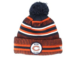 Chicago Bears On Field 19 Sport Knit 2 Navy/Orange Pom - New Era