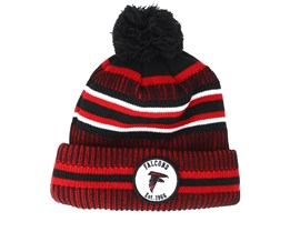 Atlanta Falcons On Field 19 Sport Knit 2 Black/Red Pom - New Era