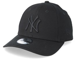 Kids New York Yankees League Essential 9Forty Black/Black Adjustable - New Era