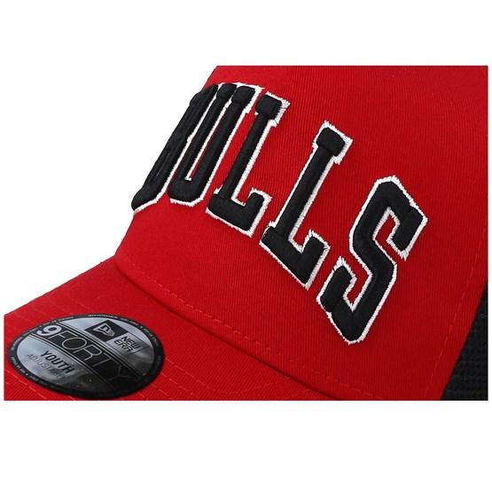 in stock buying cheap designer fashion Kids Chicago Bulls Reverse Team Red/Black Trucker - New Era caps ...