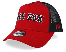 Kids Boston Red Sox Reverse Team Red/Black Trucker - New Era
