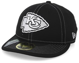 Kansas City Chiefs 59Fifty Low Profile Black/White Fitted - New Era