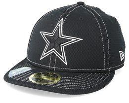 Dallas Cowboys 59Fifty Low Profile Black/White Fitted - New Era