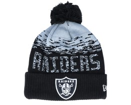Las Vegas Raiders NFL Sport Knit Cuff Black/Grey Pom - New Era