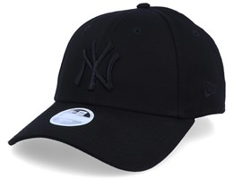 New York Yankees Essential Womens 9Forty Black/Black Adjustable - New Era