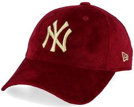 New York Yankees Women MLB Quilted 9Forty Red/Gold Adjustable - New Era